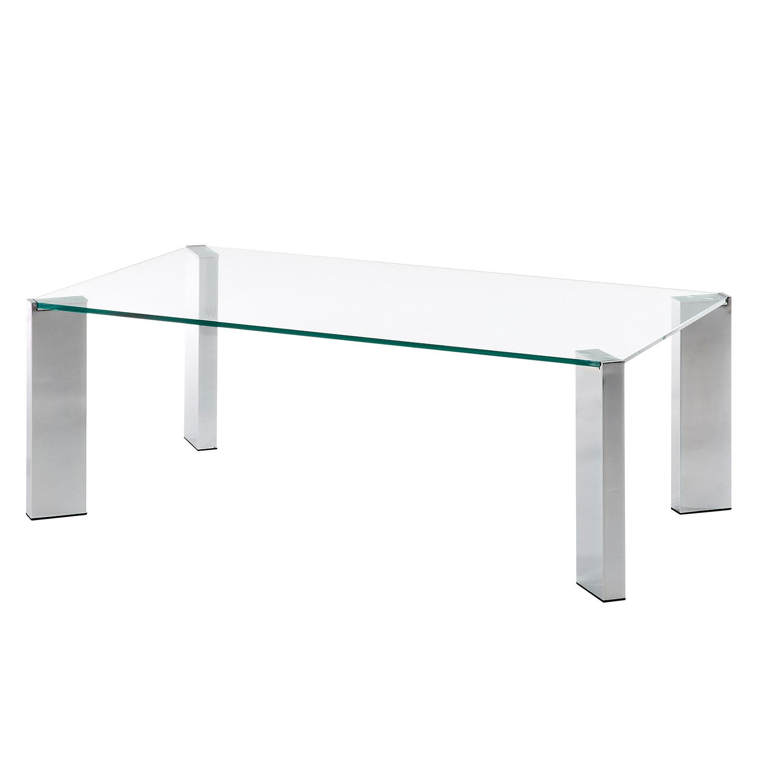 Table basse Liberotto - Verre / Acier - Chrome, Morteens