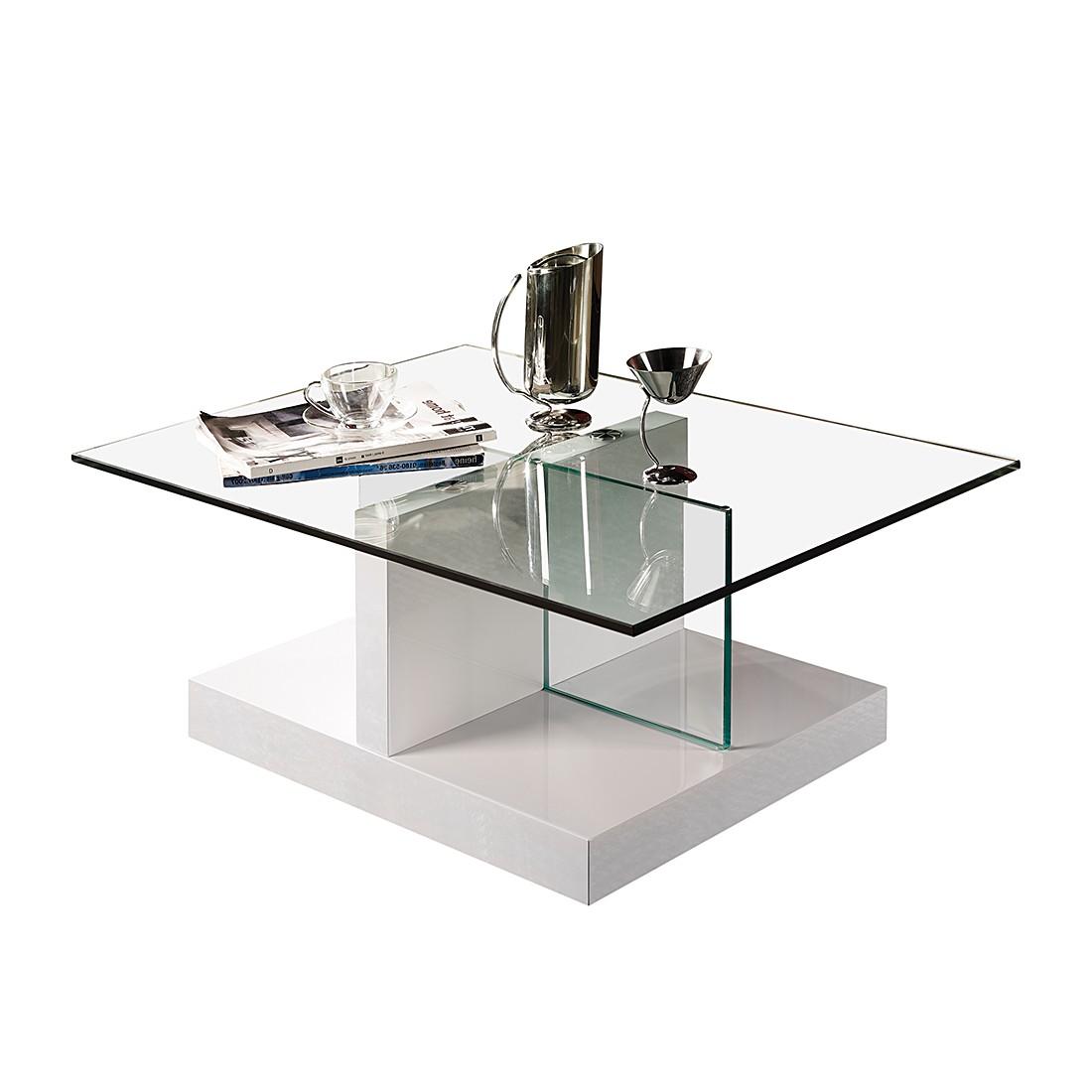 couchtisch lola hochglanz wei klarglas home design. Black Bedroom Furniture Sets. Home Design Ideas