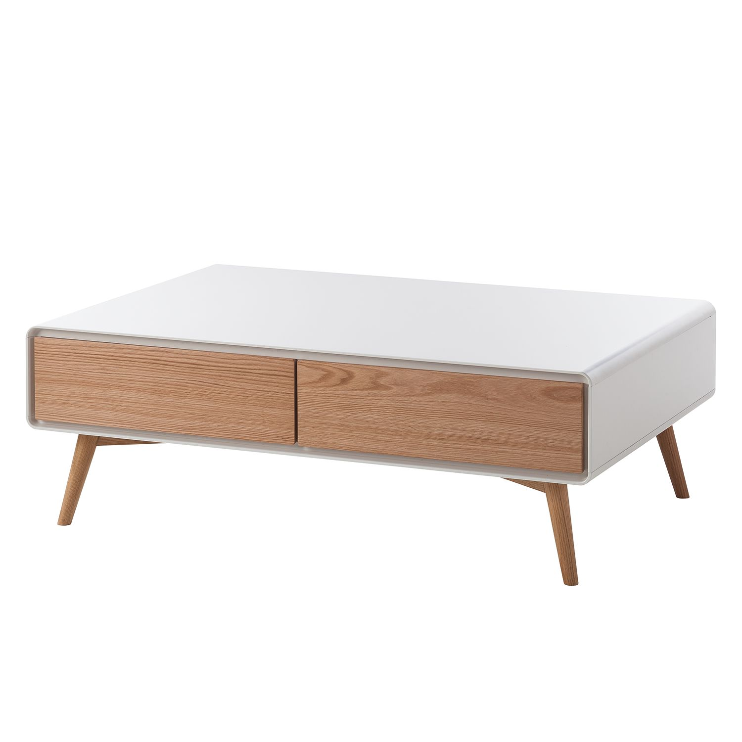 Table basse Lusi - Chêne / Blanc mat, Morteens