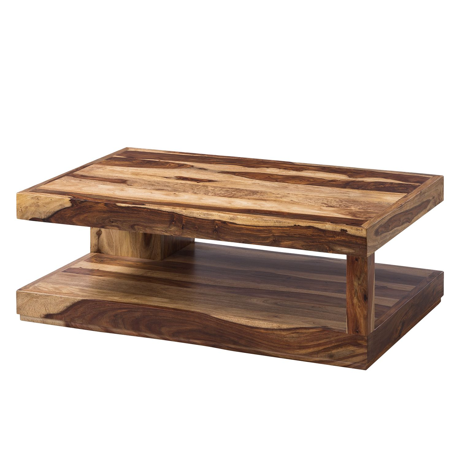 Table basse Madras I - Sheesham massif - Sheesham miel clair, Ars Natura