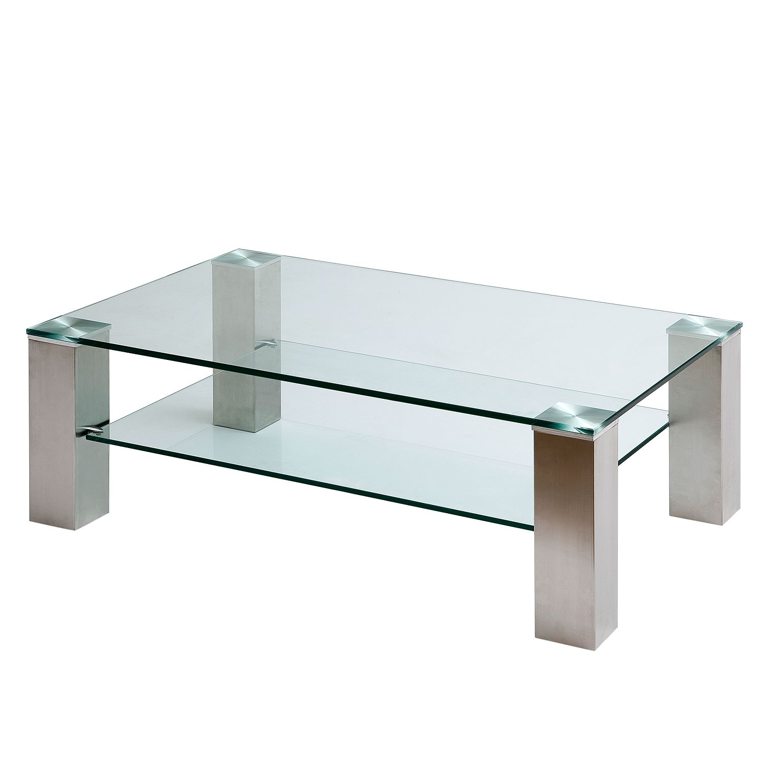 Table basse Malis - Acier inoxydable - 110 x 70 cm, loftscape