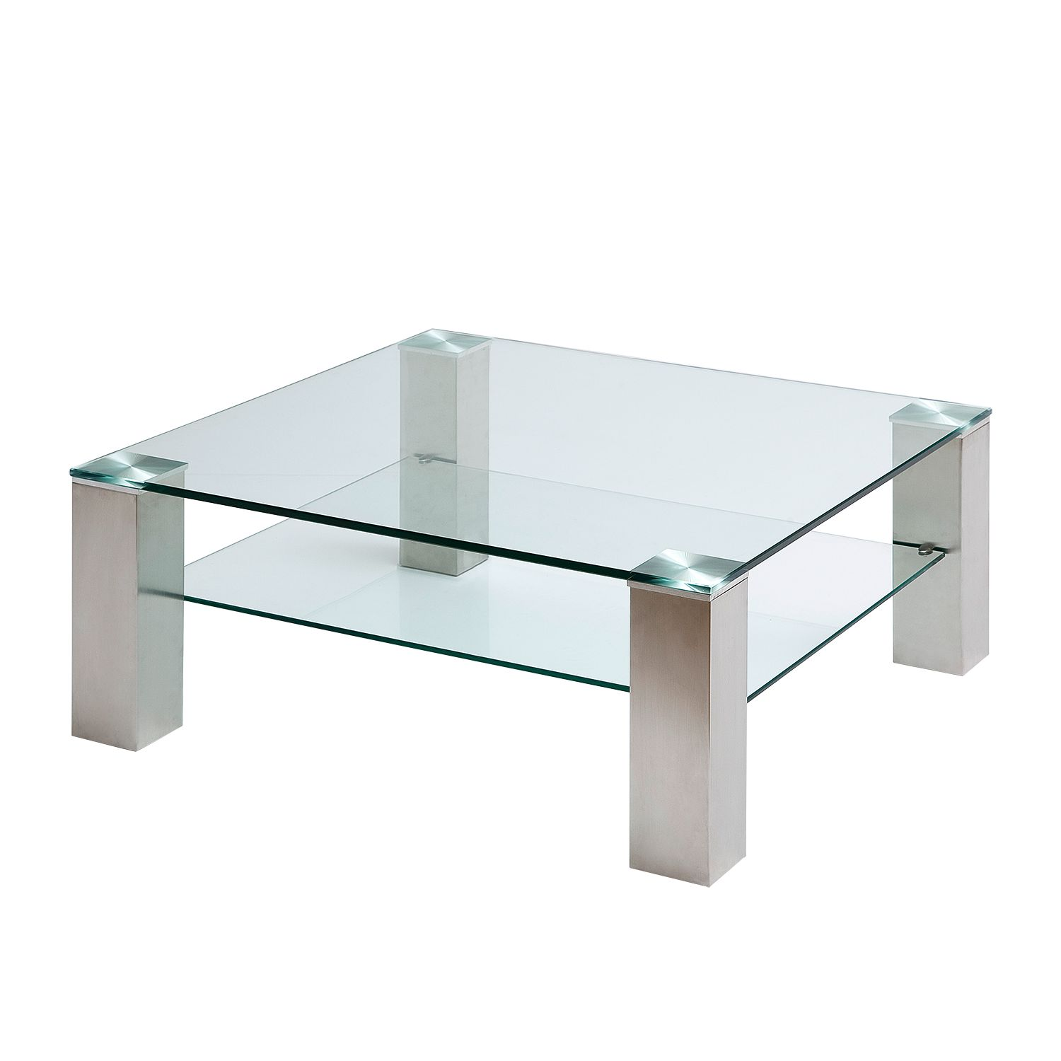 Table basse Malis - Acier inoxydable - 90 x 90 cm, loftscape