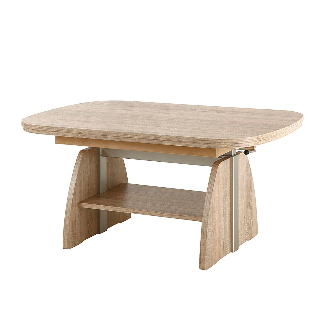 Table basse Minot (avec rallonges) - Imitation chêne Sonoma, Modoform