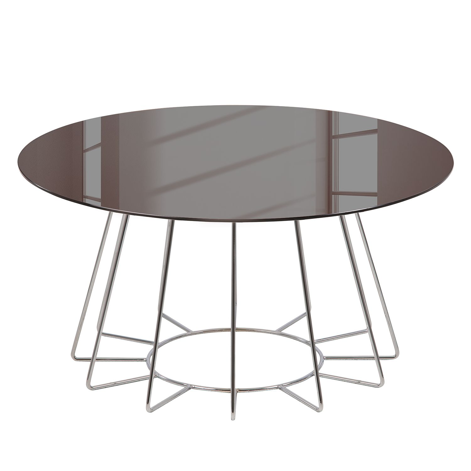 Table basse Motegi - Verre / Métal - Bronze / Chrome, Jack and Alice