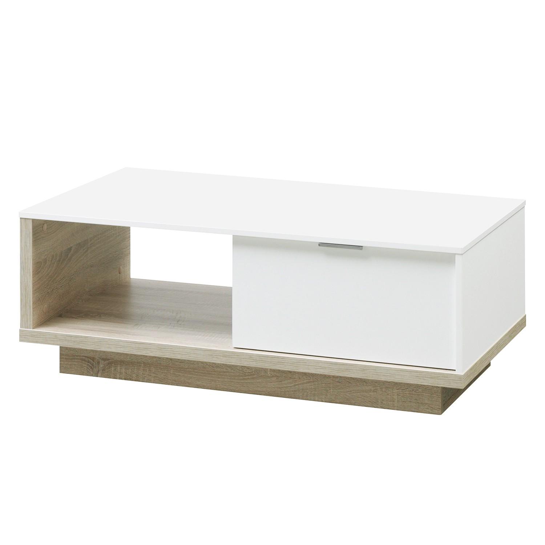 Table basse My Ell - Blanc / Imitation chêne, Cs Schmal