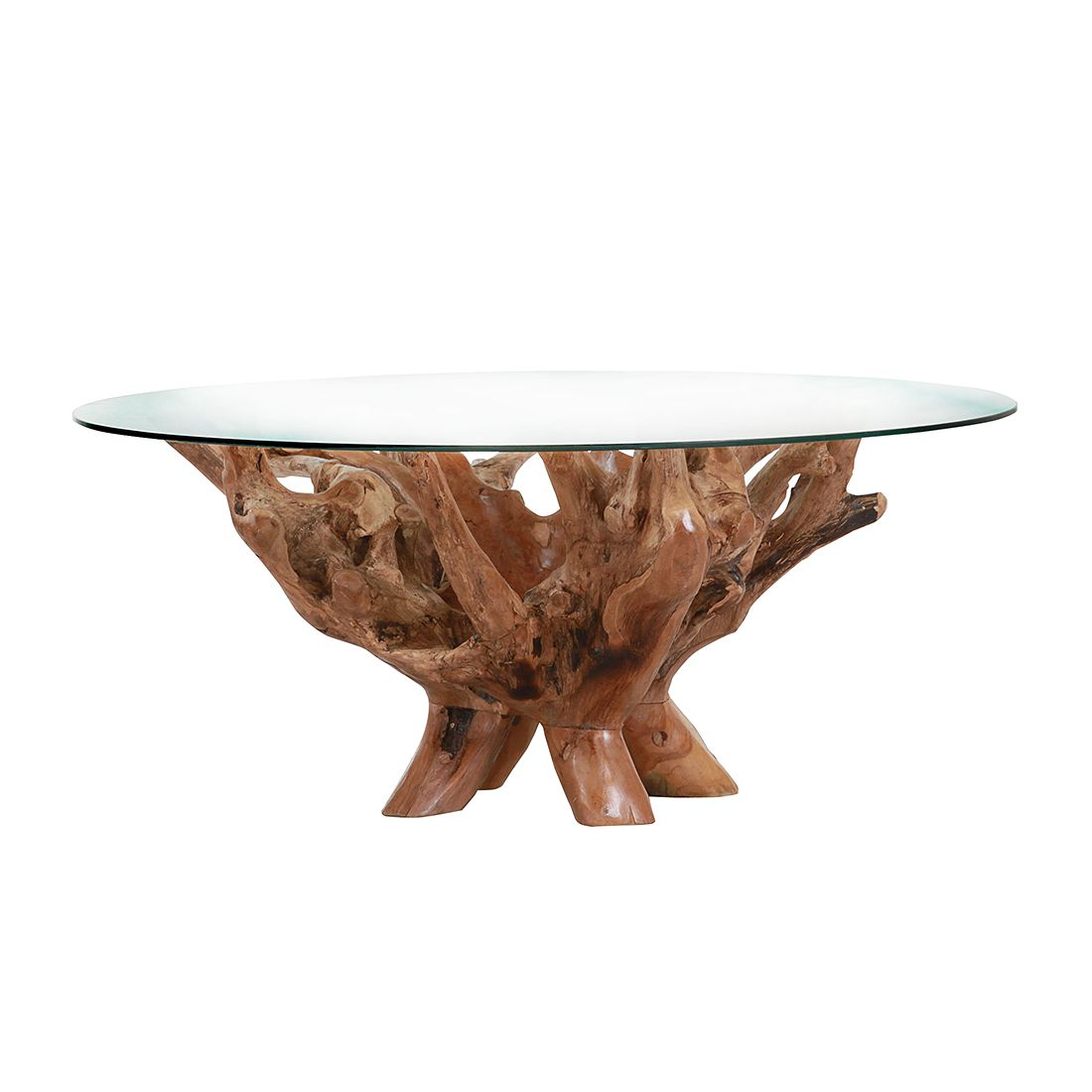 Table basse Nootka - Teck massif ancien, Red Living