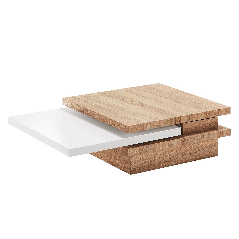 Table basse Orsa - Imitation chêne de Sonoma / Blanc, loftscape