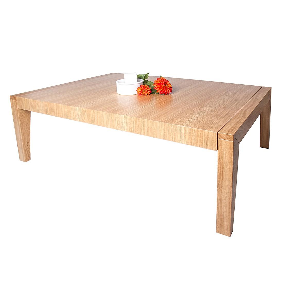 Table basse Pascal - Contreplaqué de chêne sauvage / Partiellement massif - Naturel sans rallonge, P