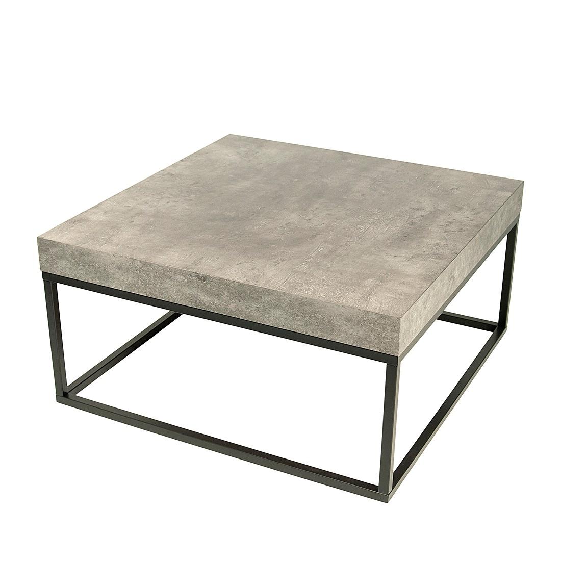 Table basse Petra - Gris béton / Noir mat, loftscape