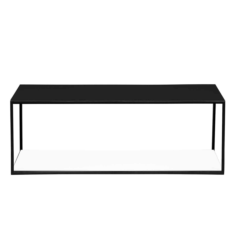 Couchtisch Piet II - Weiß / Schwarz