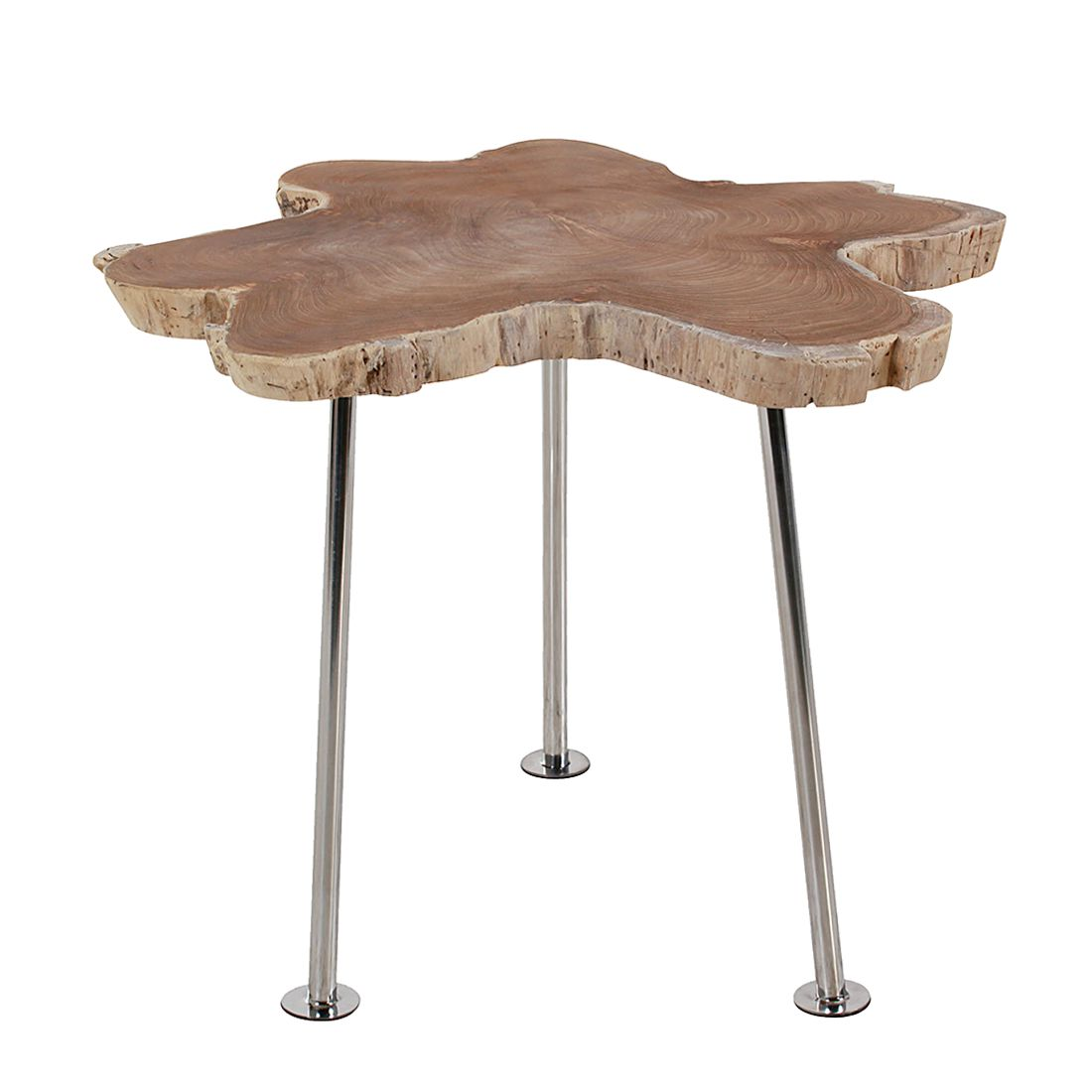 Table basse Ranch - Bois de teck massif Naturel - 75 x 75 cm, Ars Natura
