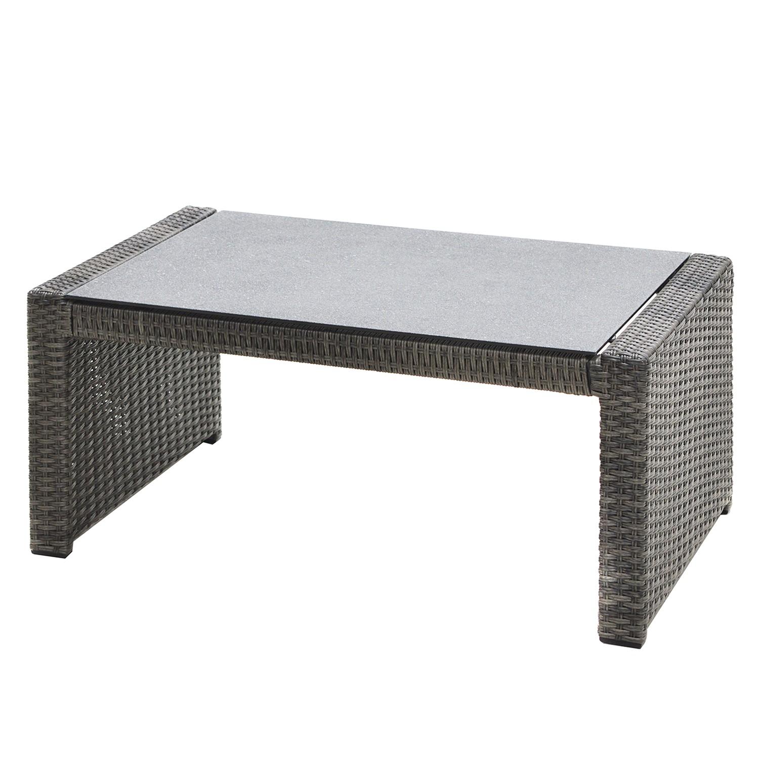 Table de jardin Rocking - Polyrotin - Marron gris / Anthracite, Ploß