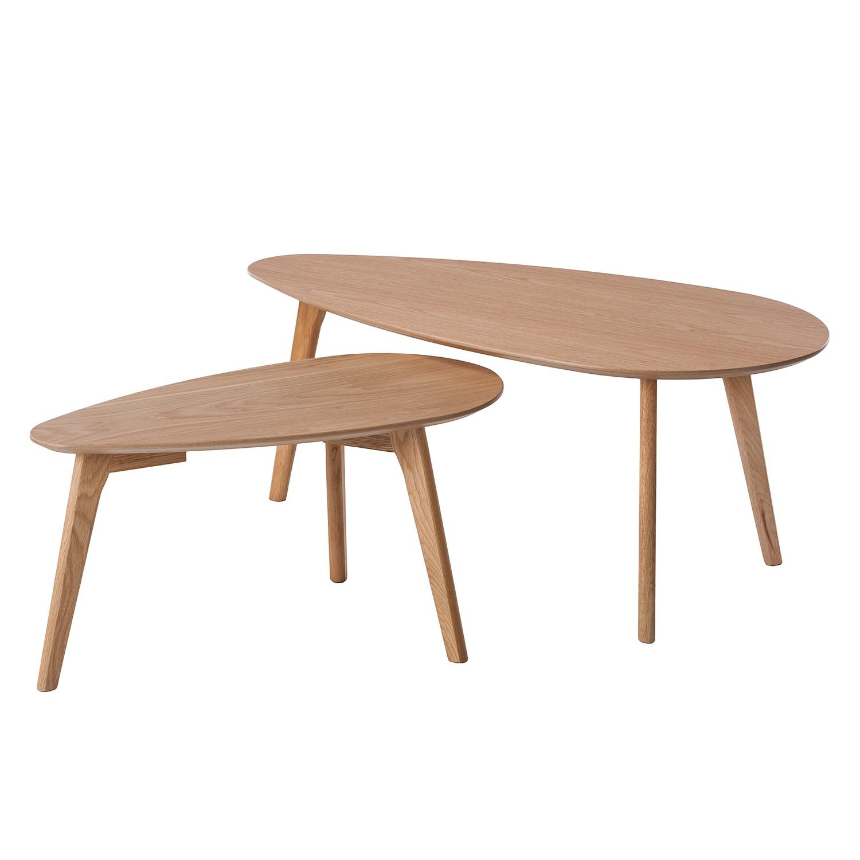 Table basse Kazin (2 éléments) - Chêne partiellement massif, Morteens