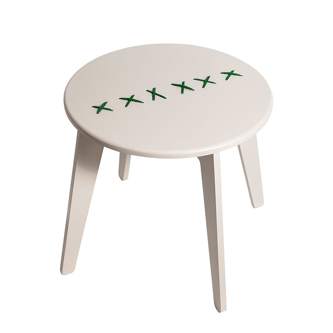 Table basse Stitched - Gris clair / Vert menthe, Metrocuadro Design