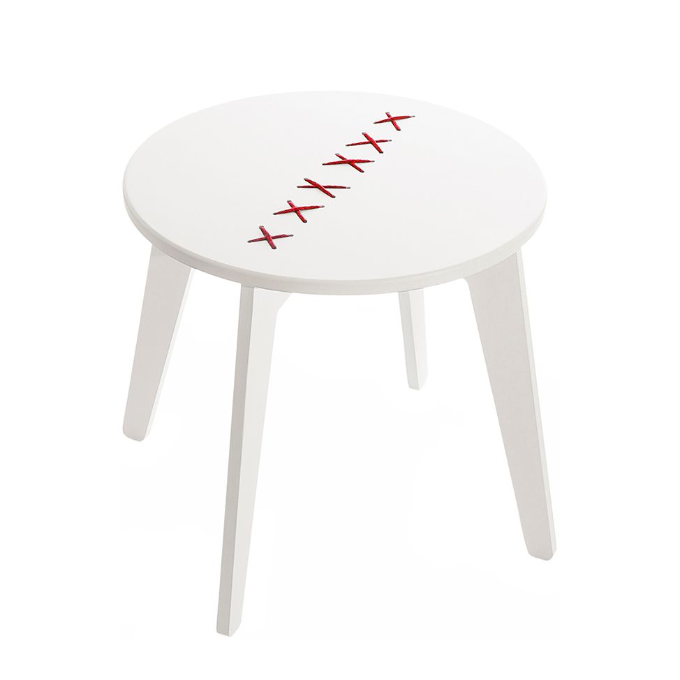 Table basse Stitched - Blanc / Rouge, Metrocuadro Design