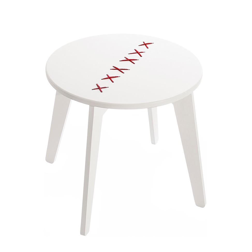 tavolino da salotto Stitched - Bianco/Rosso, Metrocuadro Design
