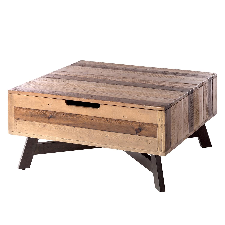 Table basse Tamati III - Pin ancien / Métal - Pin foncé / Noir, ars manufacti