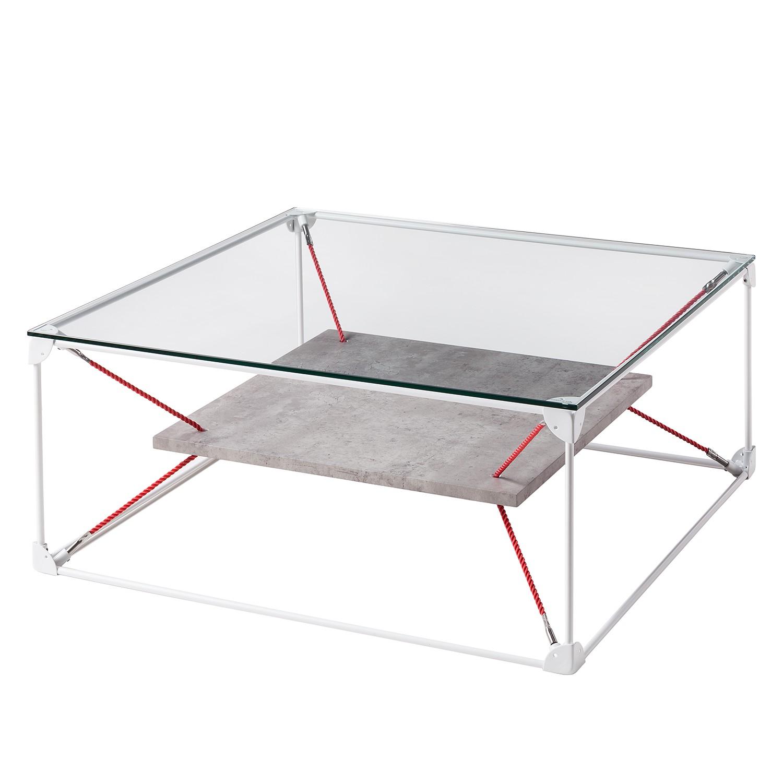 Tavolino da salotto - effetto cemento / bianco, Studio Copenhagen
