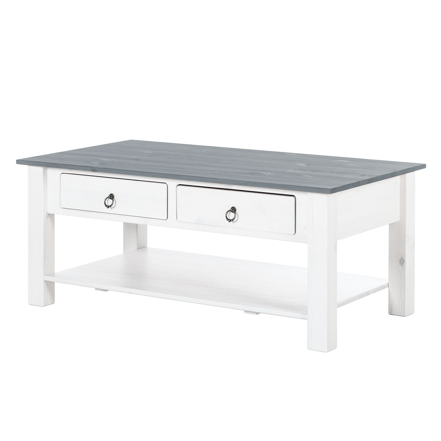 Table d'appoint Valmer II - Pin massif Gris, Maison Belfort