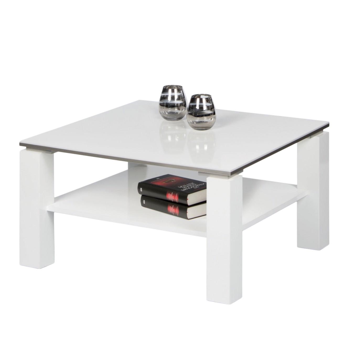 Couchtisch Vidora Hochglanz Weiß 75 X Cm Beistelltisch Couch Tisch