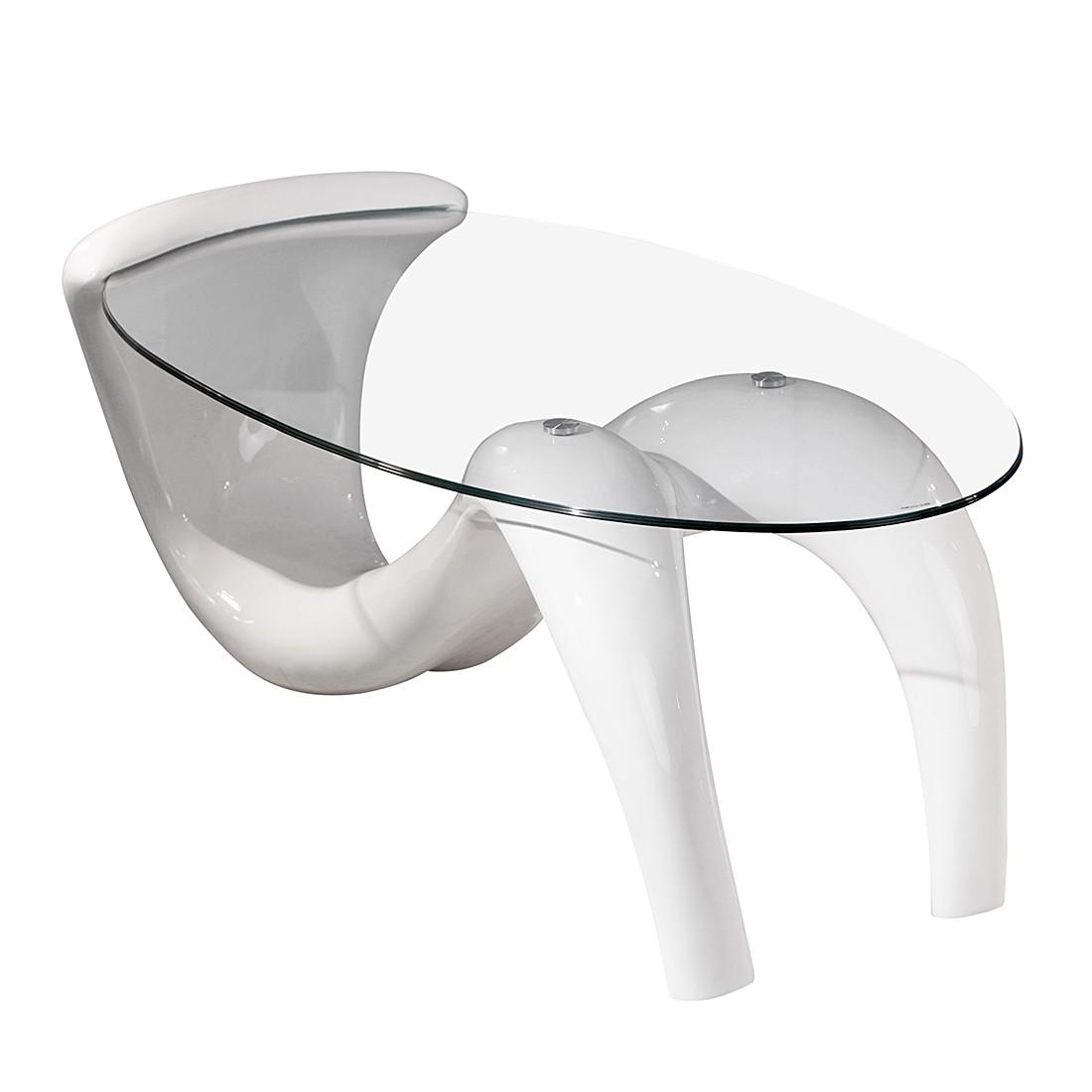 Tavolino da salotto Wave - Bianco lucido, Studio Monroe