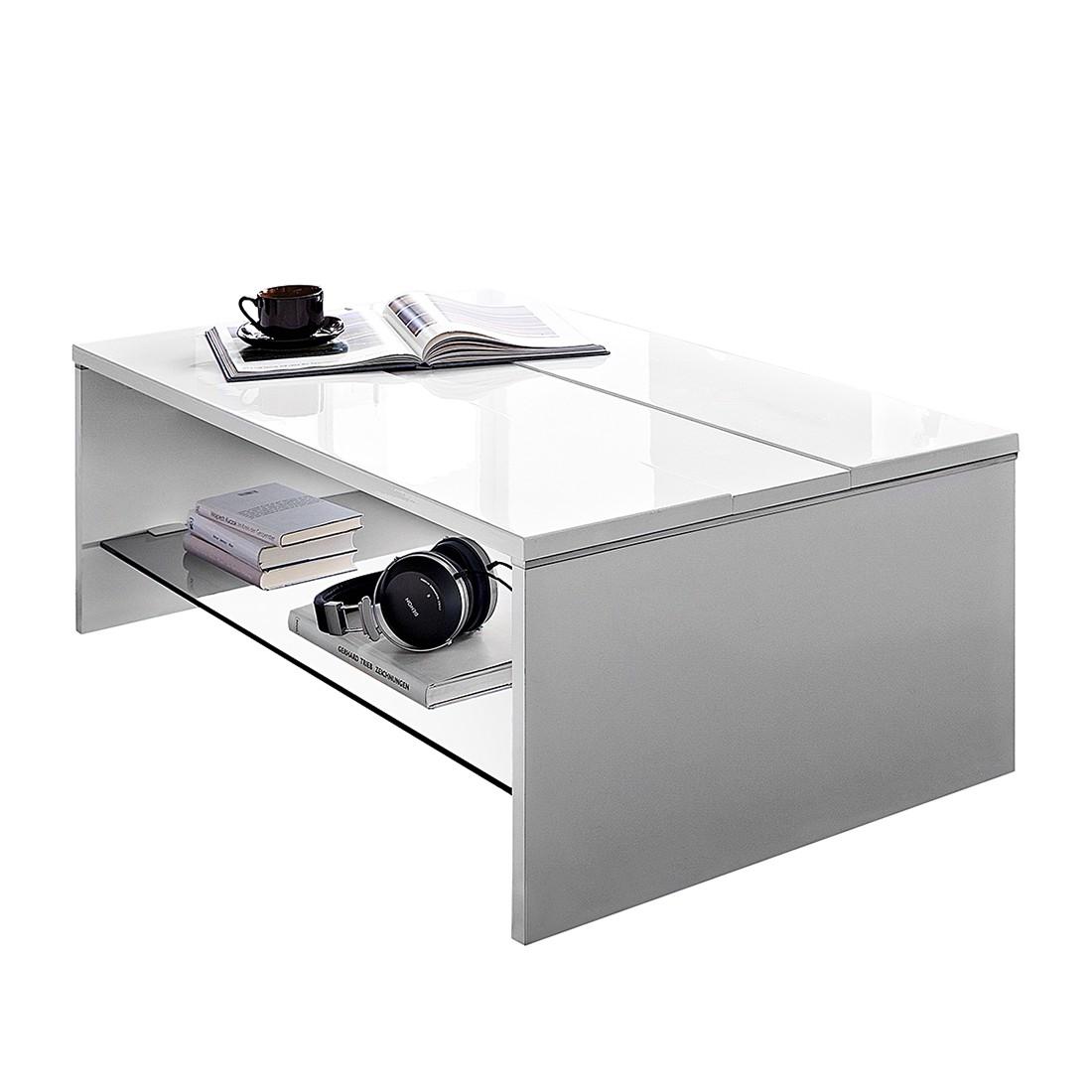 Table basse WhiteStar - Blanc brillant, roomscape