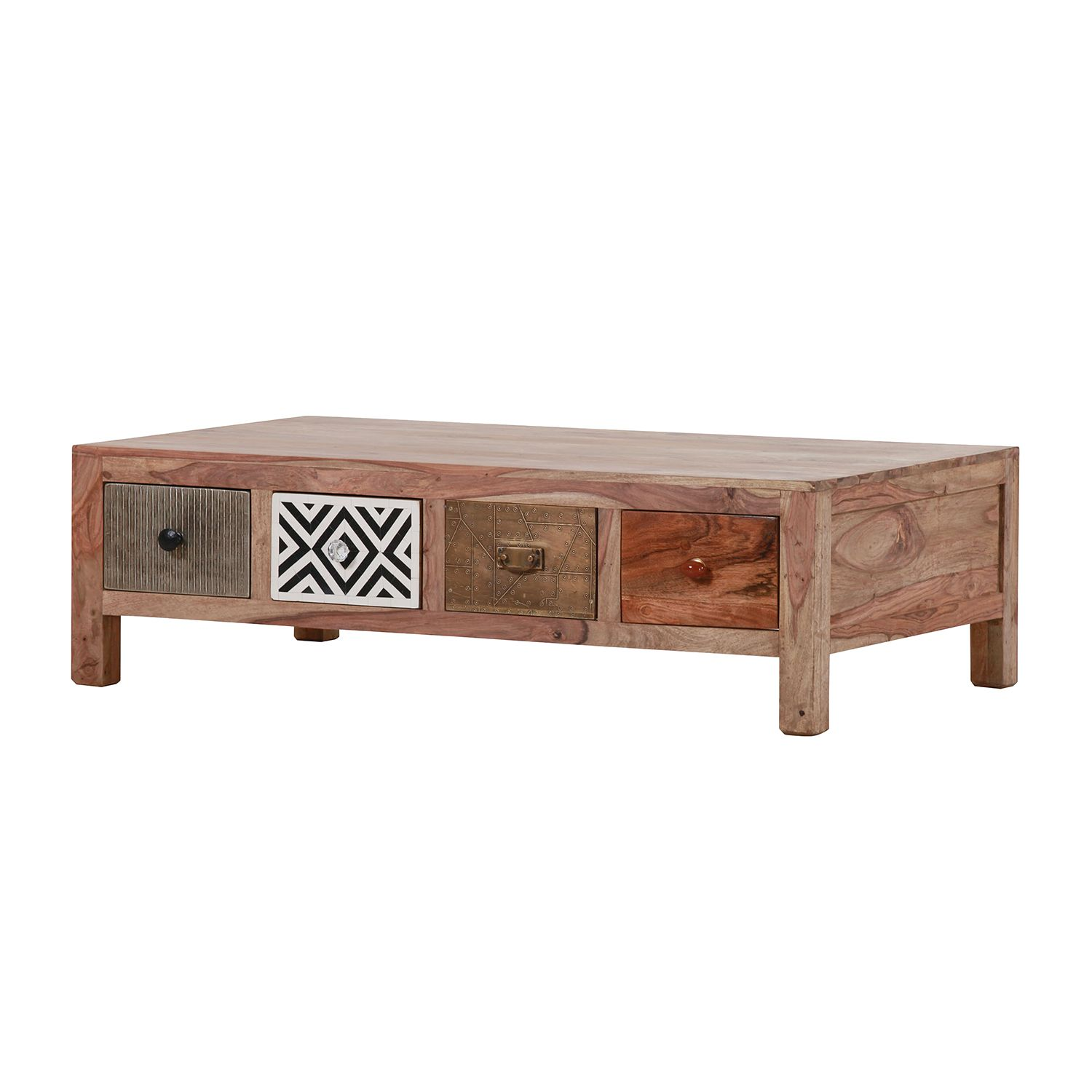 Table basse Jakarta Plus I - Sheesham massif, Red Living