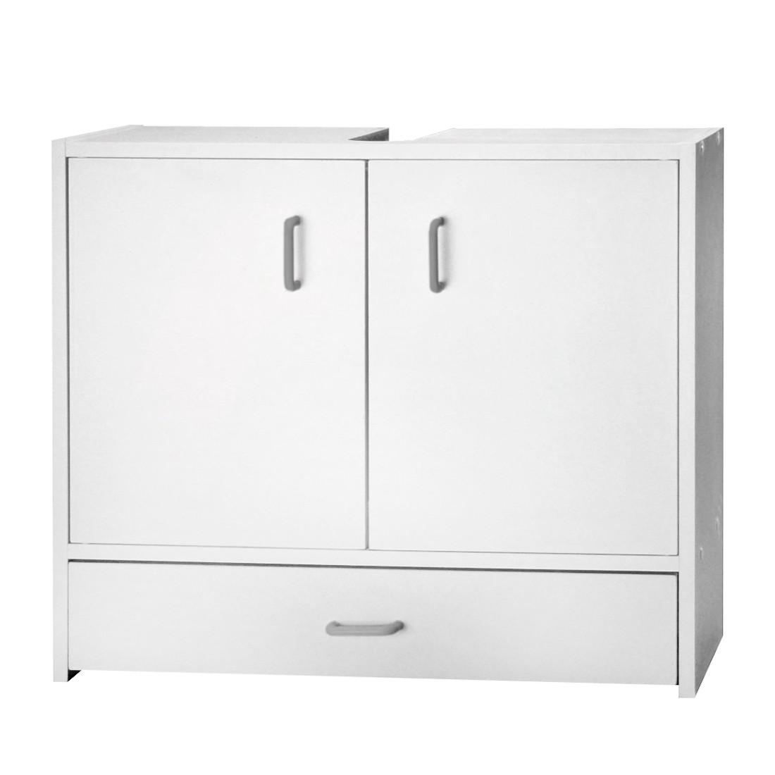 Armadietto da lavabo Cuneo - Con cassetto alla base bianca, Kesper Badmöbel