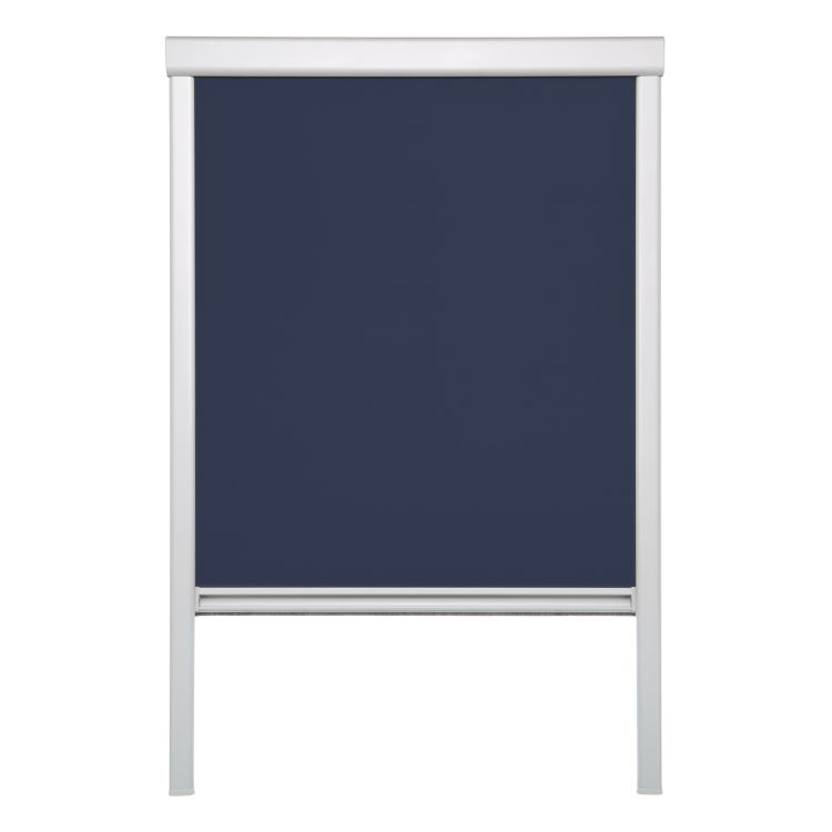 Dakvenster-rolgordijn Skylight I - geweven stof - donkerblauw - 61,3 x 94 cm, Lichtblick
