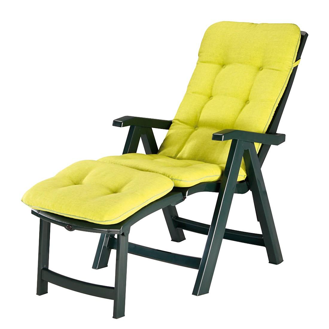 Home 24 - Chaise longue florida - matériau synthétique / tissu - vert, best freizeitmöbel