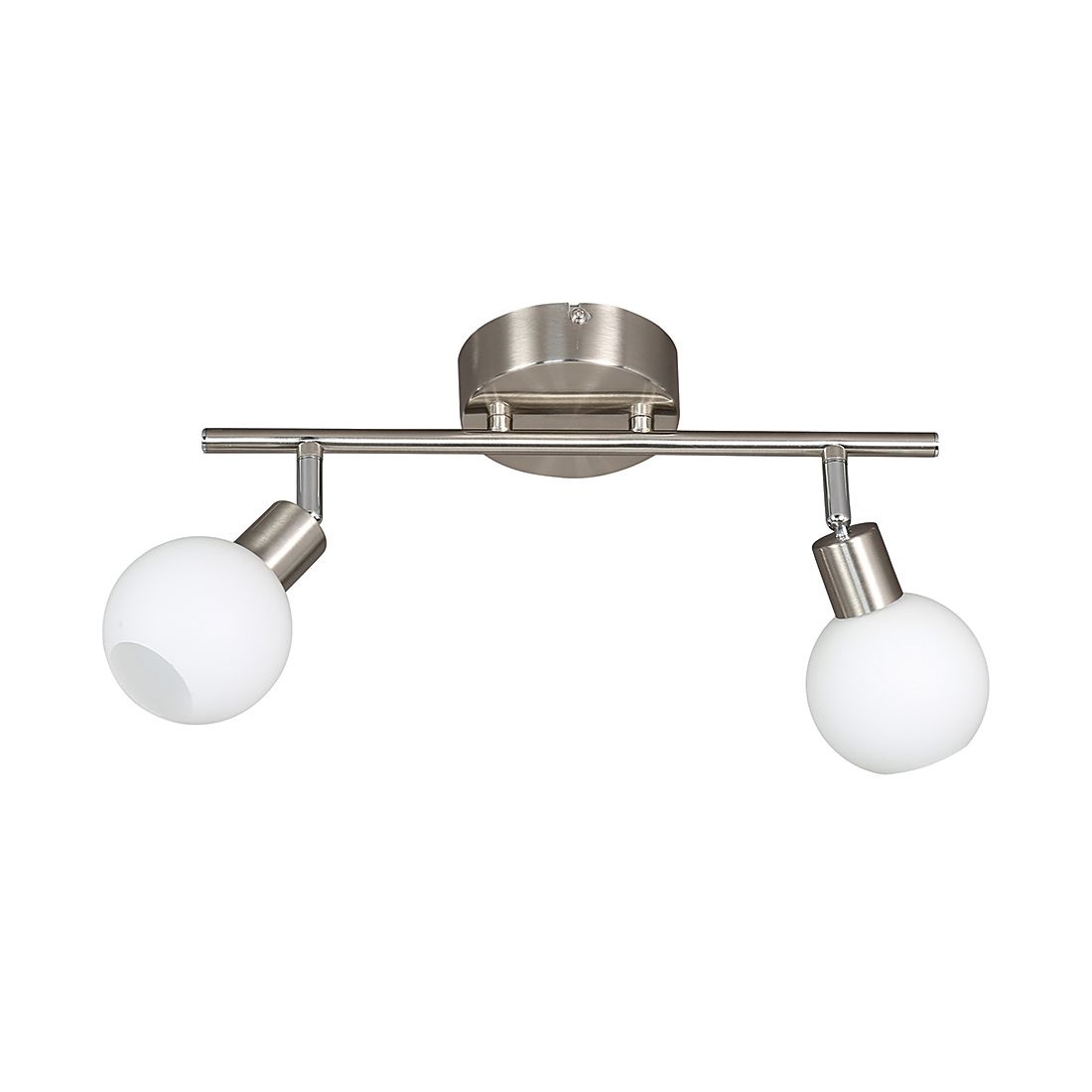 energie A+, Plafondlamp NOIS metaal-glas 2 lichtbronnen, Action