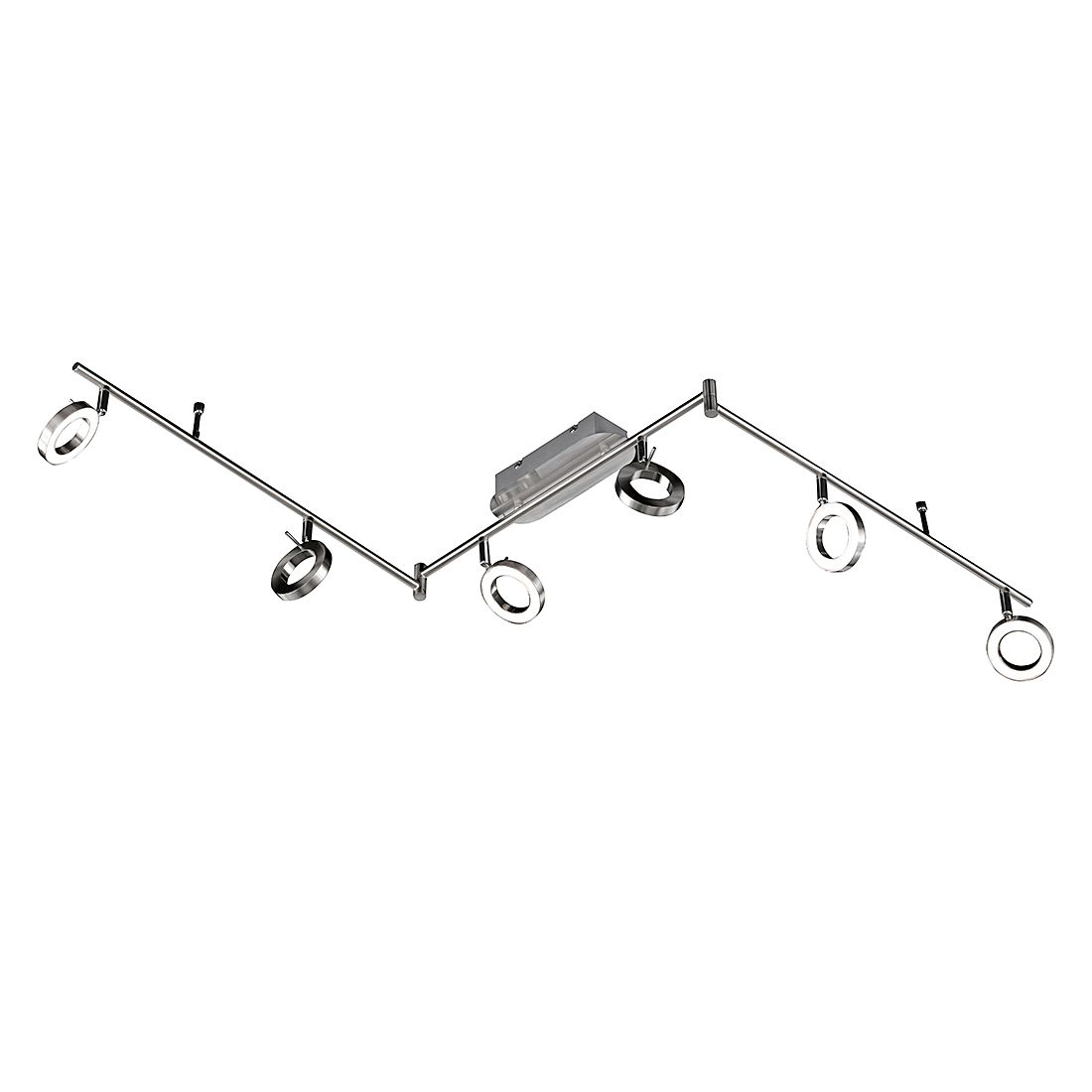 energie A+, Plafondlamp MONZA metaal-kunststof 6 lichtbronnen, Action