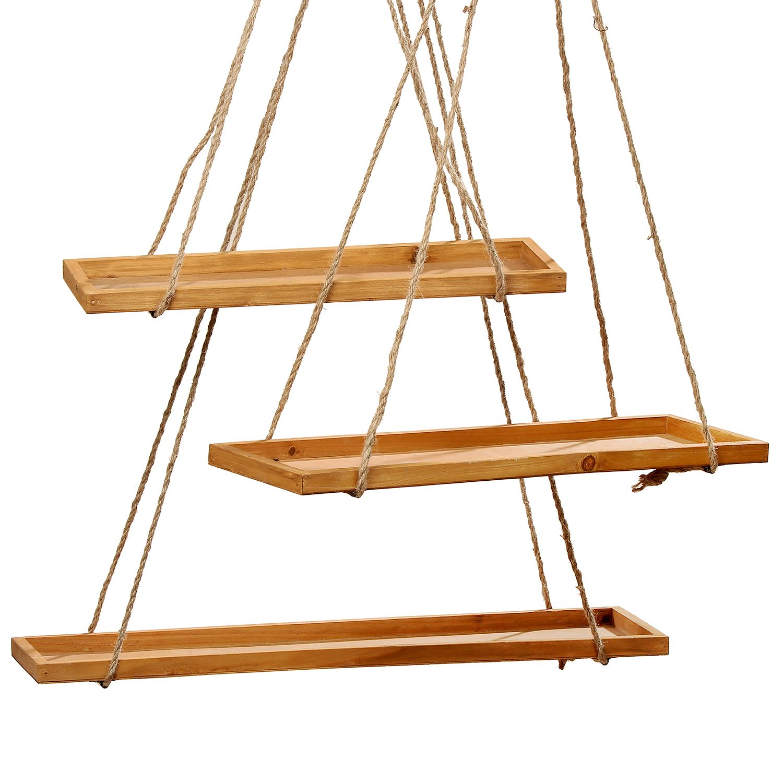 Deckenhänger Pendulum (3-teilig) - Tanne massiv / Jute Beige Sale Angebote Haasow