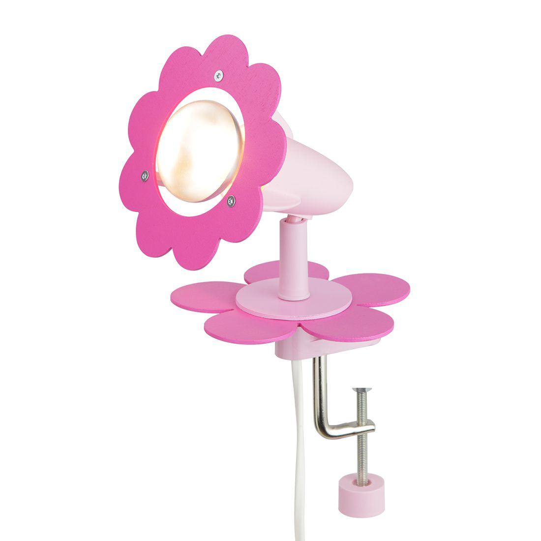 Home 24 - Eek a++, plafonnier fleur - bois 1 ampoule, elobra