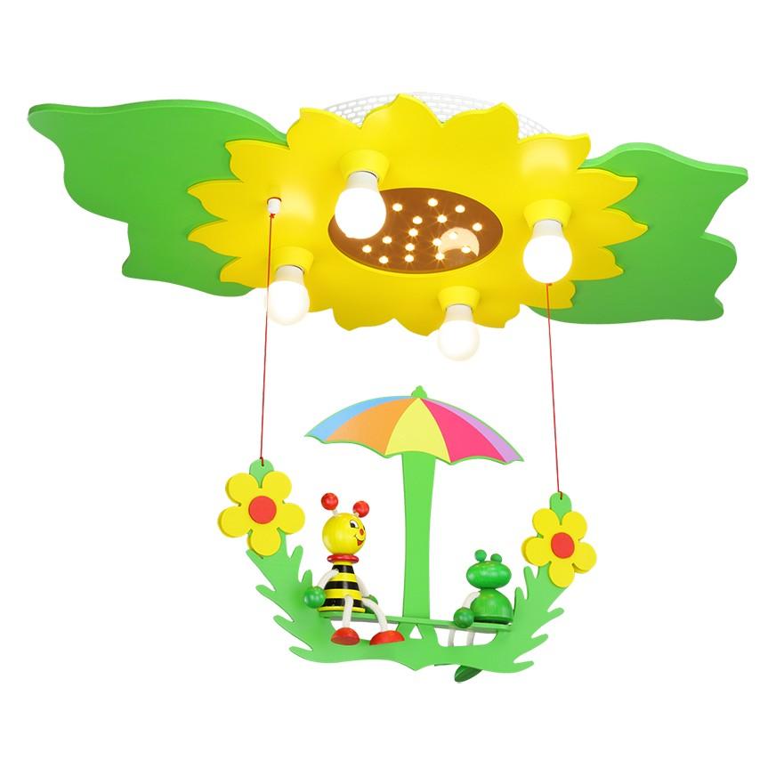 Home 24 - Eek a+, plafonnier fleur / feuilles 4 20 - bois ampoules, elobra
