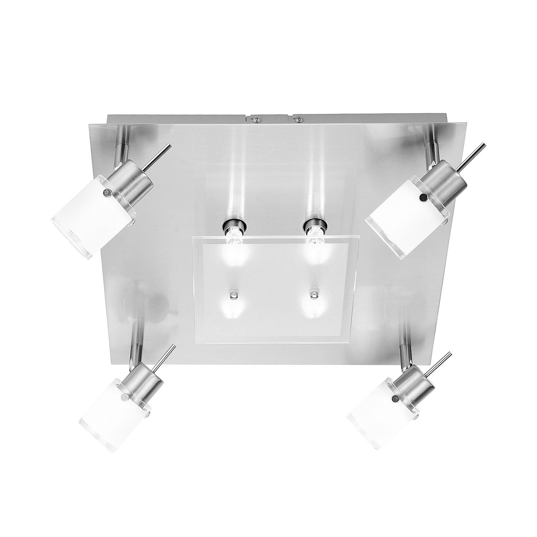 energie  A++, Plafondlamp Centura Le - ijzer zilverkleurig 8 lichtbronnen, Paul Neuhaus