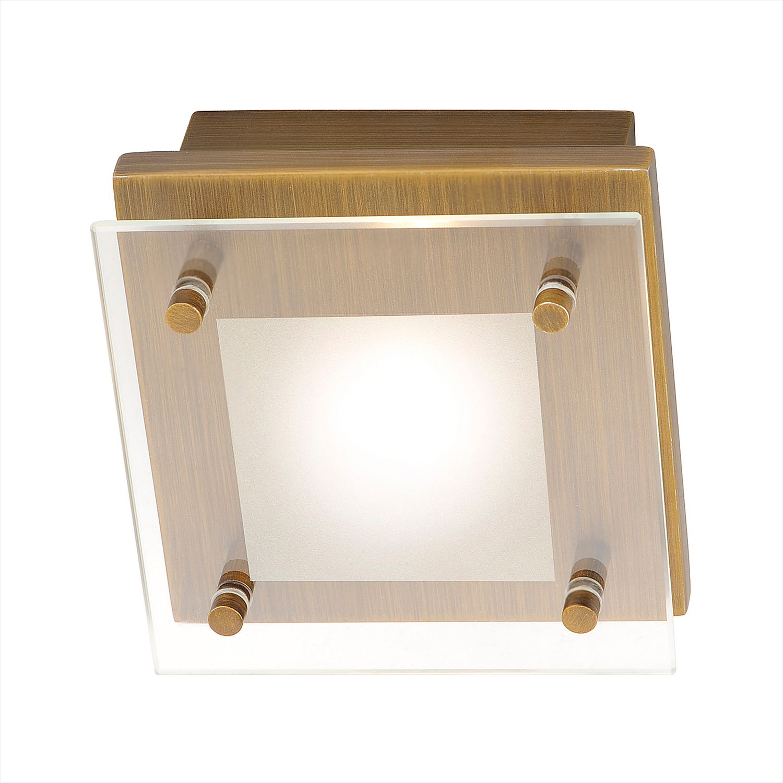 energie  A++, Plafondlamp Chiron - ijzer goudkleurig 1 lichtbron, Paul Neuhaus
