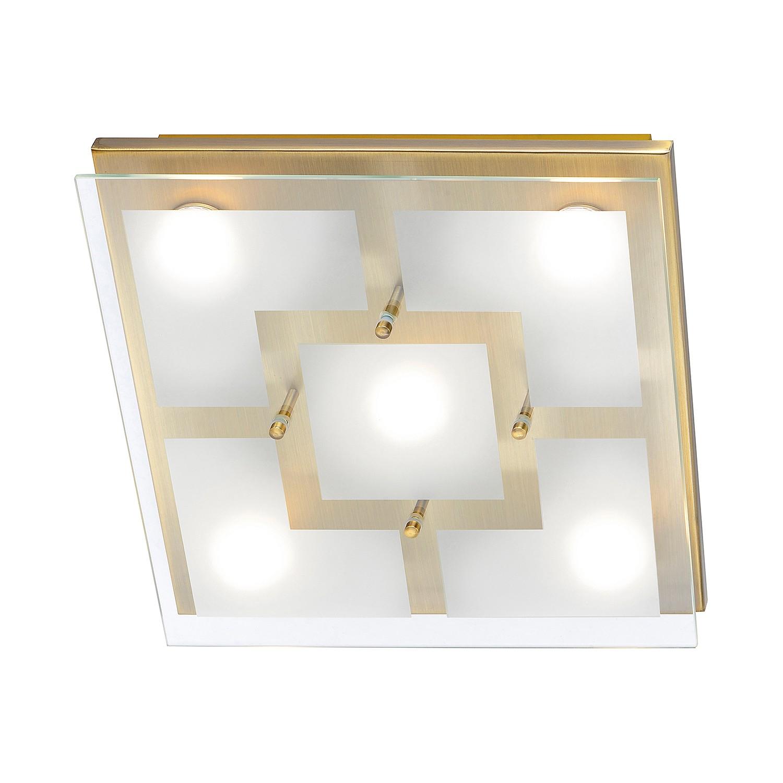 energie  A++, Plafondlamp Chiron - ijzer goudkleurig 5 lichtbronnen, Paul Neuhaus