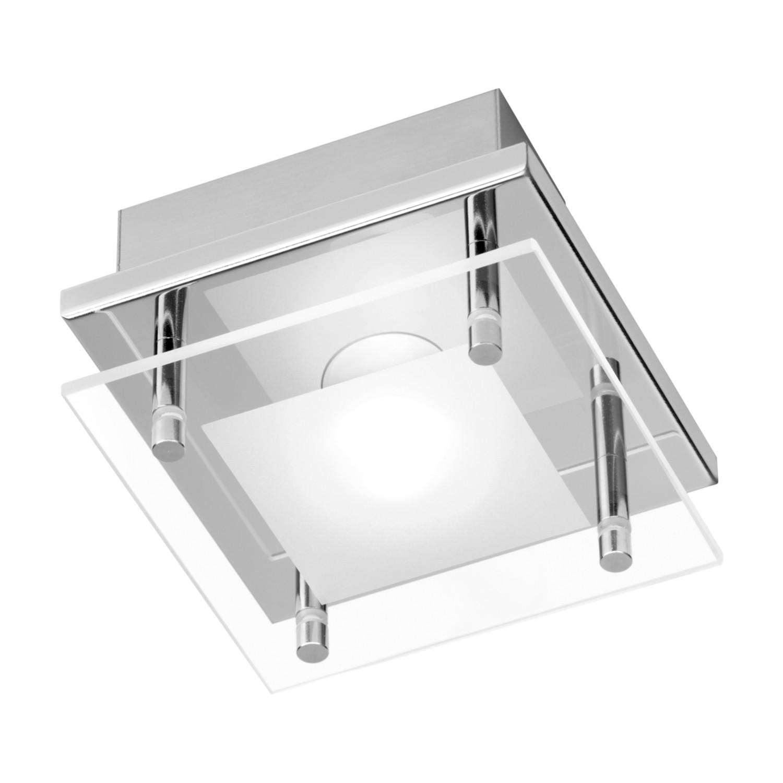 energie  A+, Plafondlamp Chiron - ijzer zilverkleurig 1 lichtbron, Paul Neuhaus