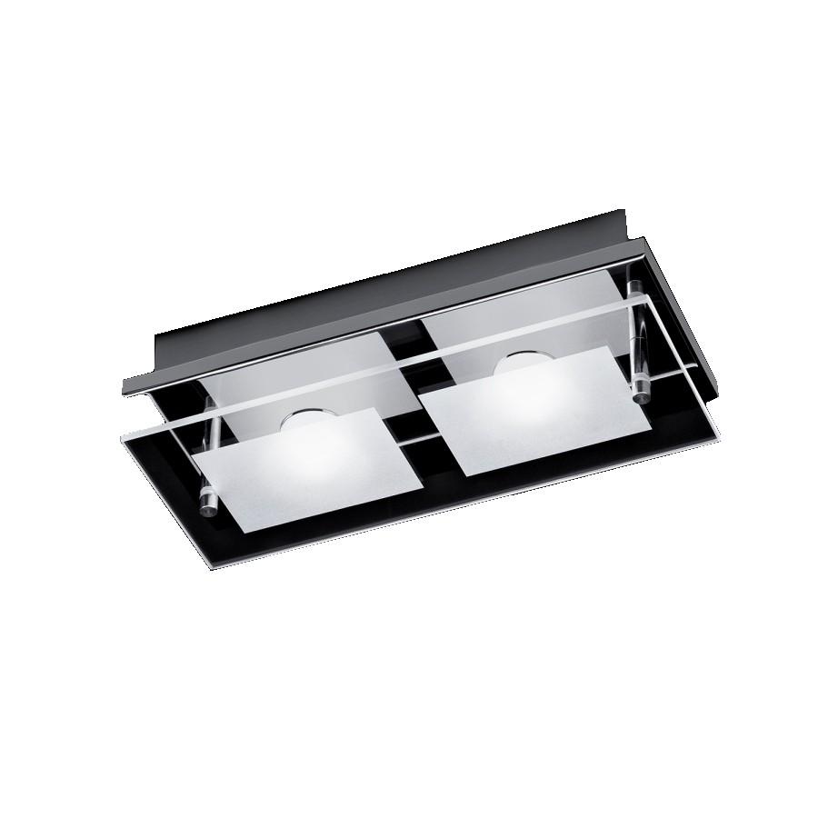 energie  A+, Plafondlamp Chiron - ijzer zilverkleurig 2 lichtbronnen, Paul Neuhaus