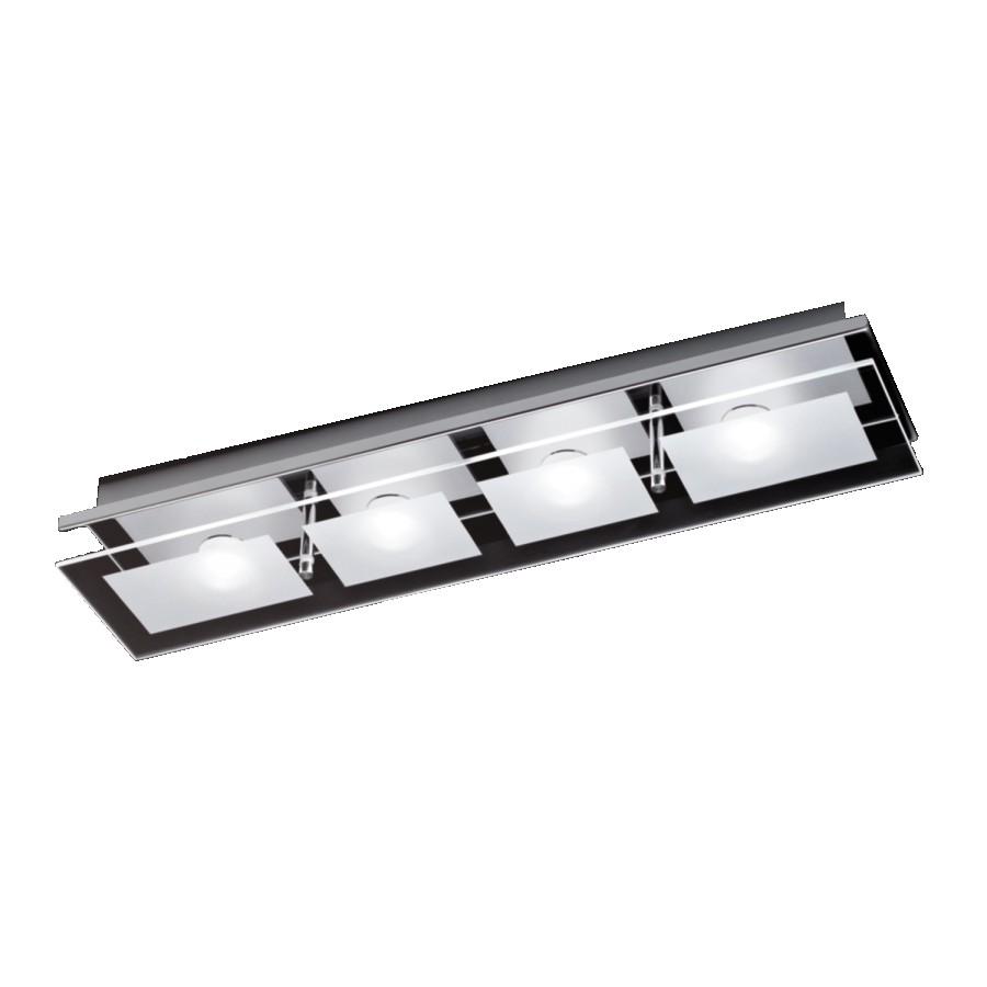 energie  A+, Plafondlamp Chiron - ijzer zilverkleurig 4 lichtbronnen, Paul Neuhaus