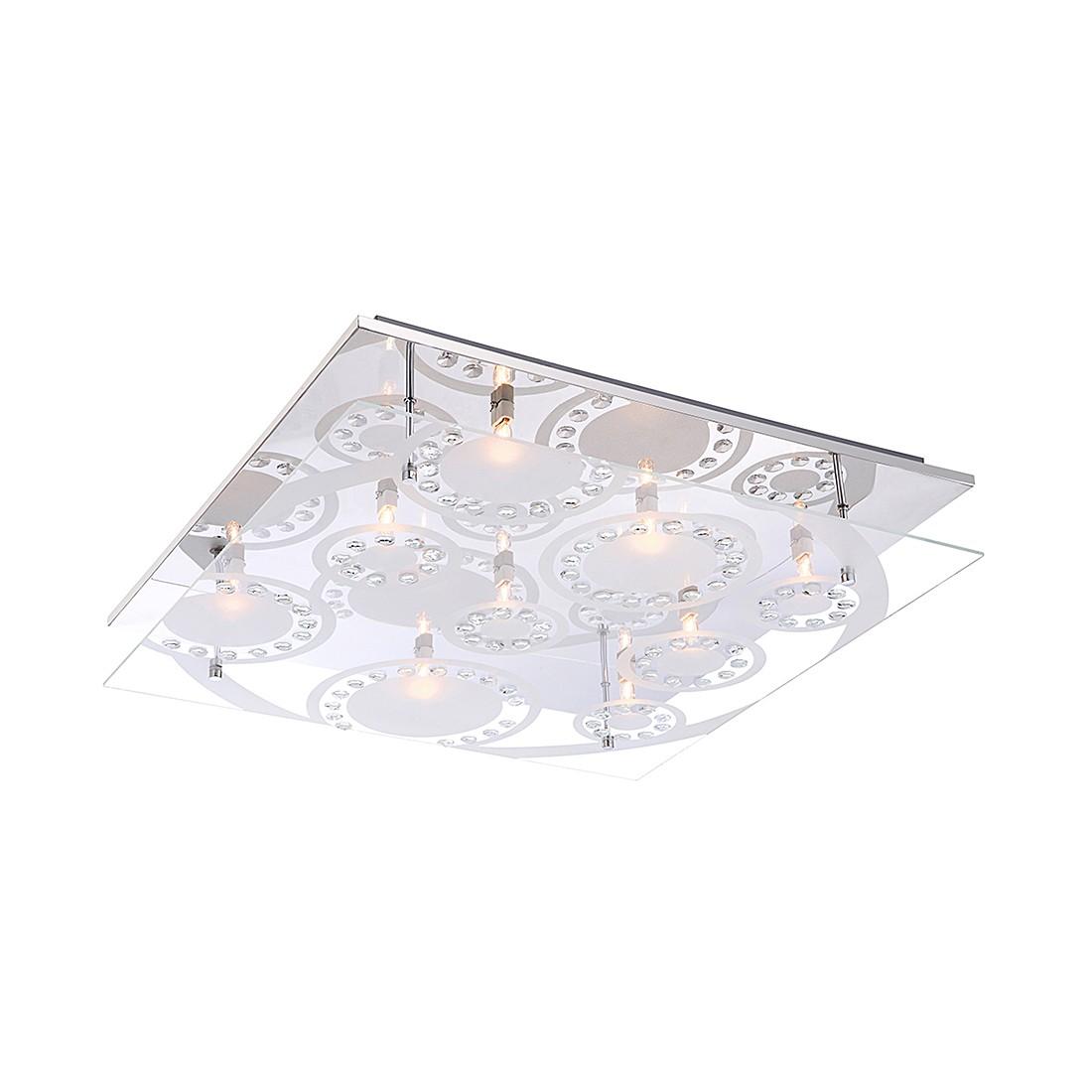 EEK A++, Deckenleuchte Dianne I - Metall - Silber - 9-flammig, Globo Lighting