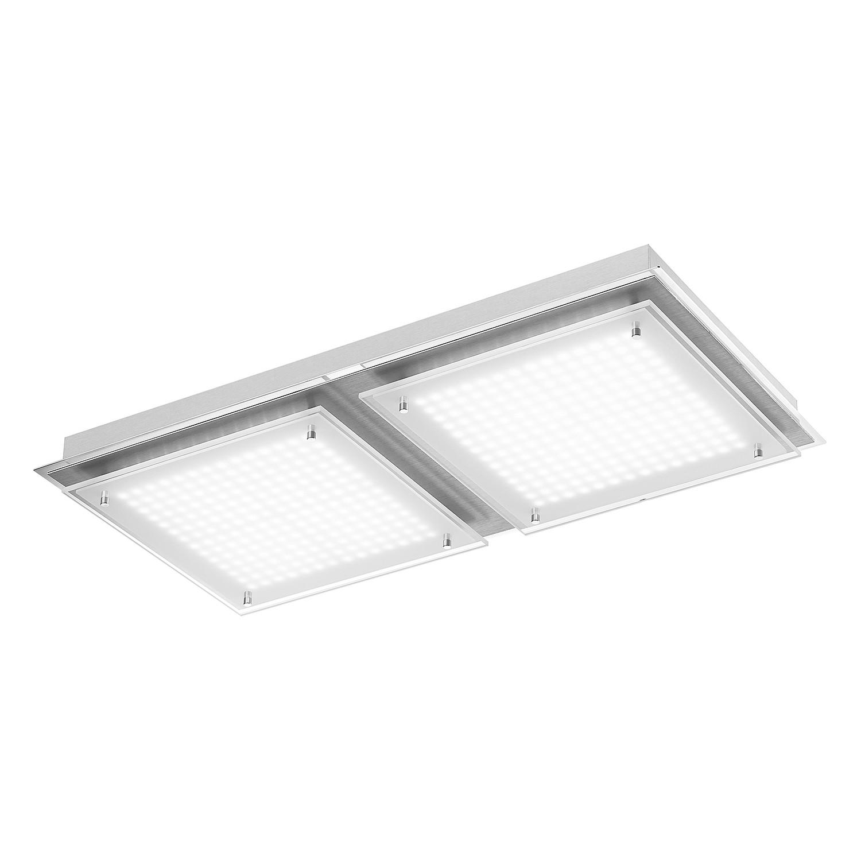 energie  A+, Plafondlamp Feld - ijzer zilverkleurig 8 lichtbronnen, Paul Neuhaus