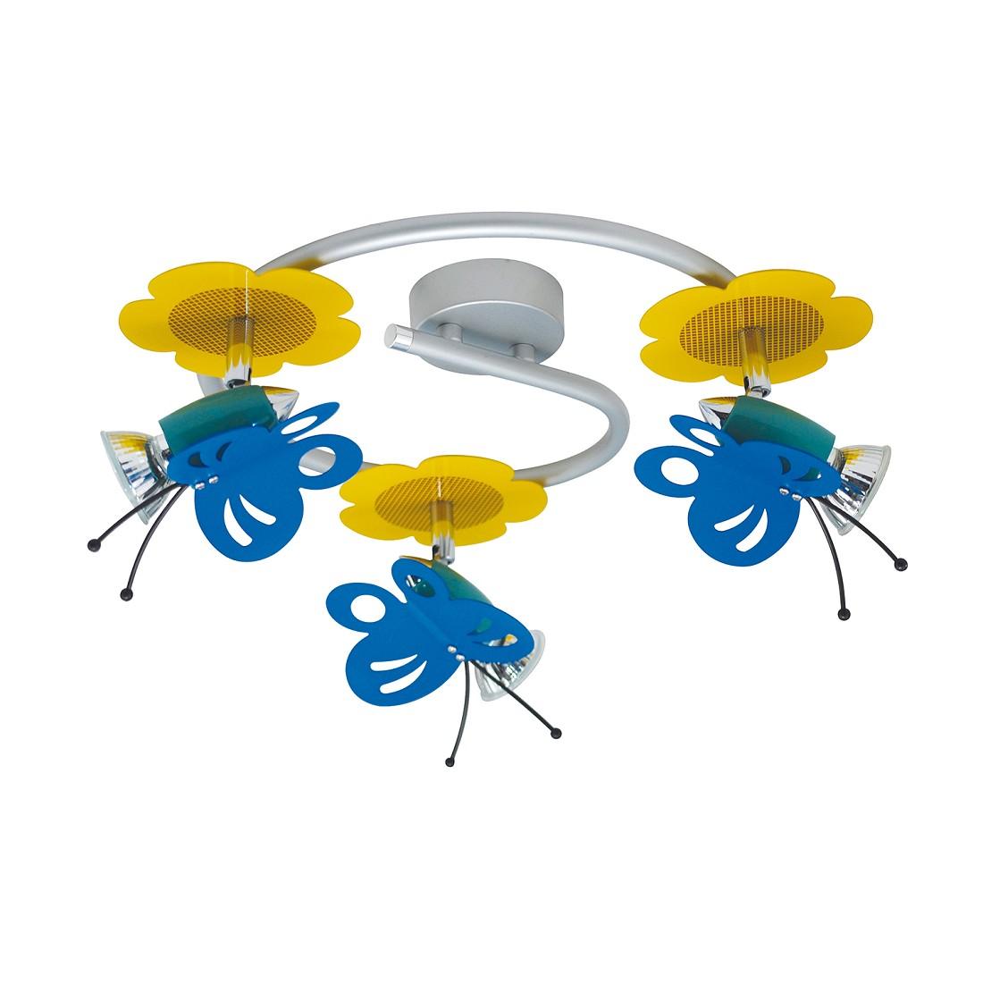 Home 24 - Eek b, plafonnier fly - métal multicolore 3 ampoules, näve