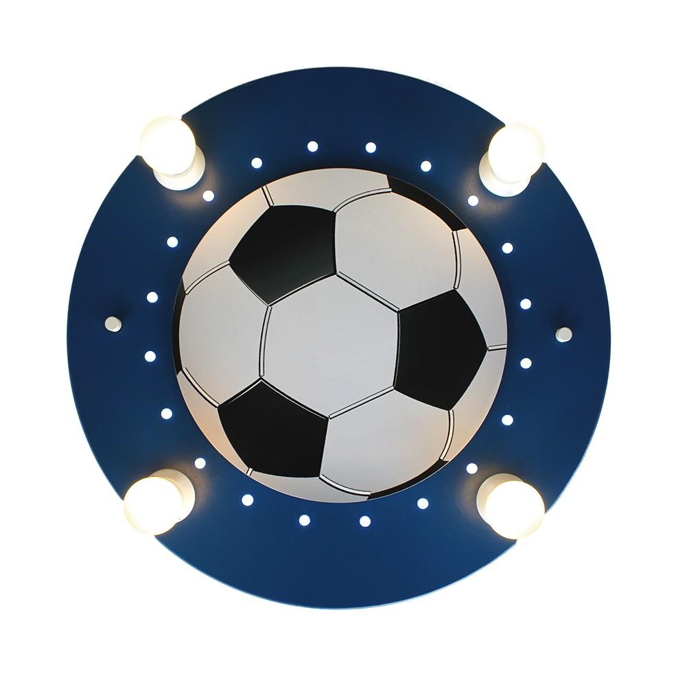 Home 24 - Eek a+, plafonnier football 4 / 20 - bois ampoules, elobra