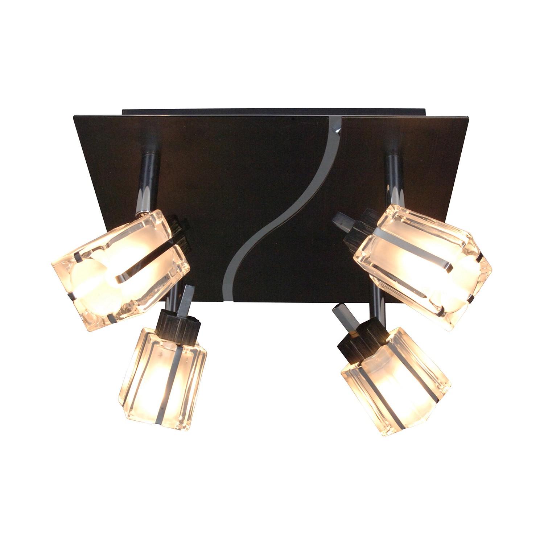 energie  C, Plafondlamp Laurenz - metaal zwart 4 lichtbronnen, Näve