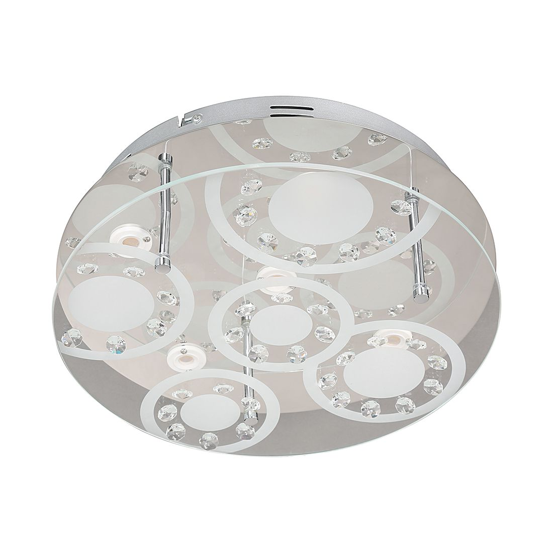 energie  A+, Plafondlamp TROJA - metaal/glas - 5 lichtbronnen, Wofi