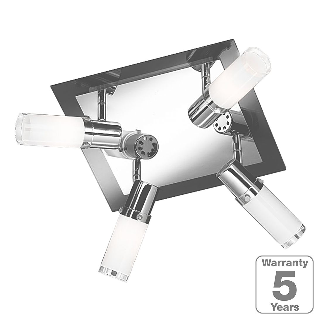 energie  A++, Plafondlamp Marco - 4 lichtbronnen, Wofi