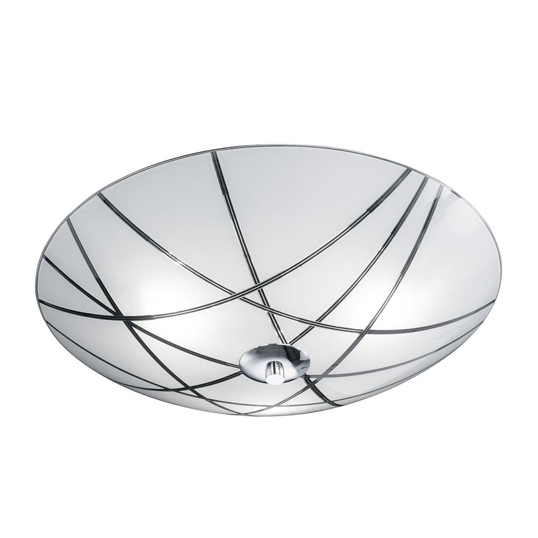 energie  A++, Plafondlamp Mats - metaal/zilverkleurig glas 3 lichtbronnen, Honsel