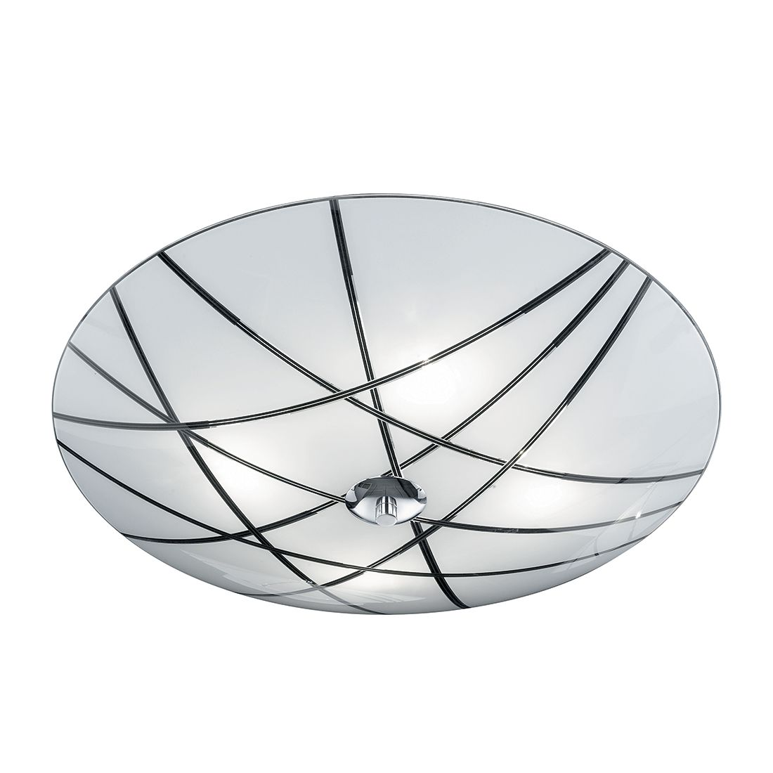 energie  A++, Plafondlamp Mats - metaal/zilverkleurig glas 4 lichtbronnen, Honsel
